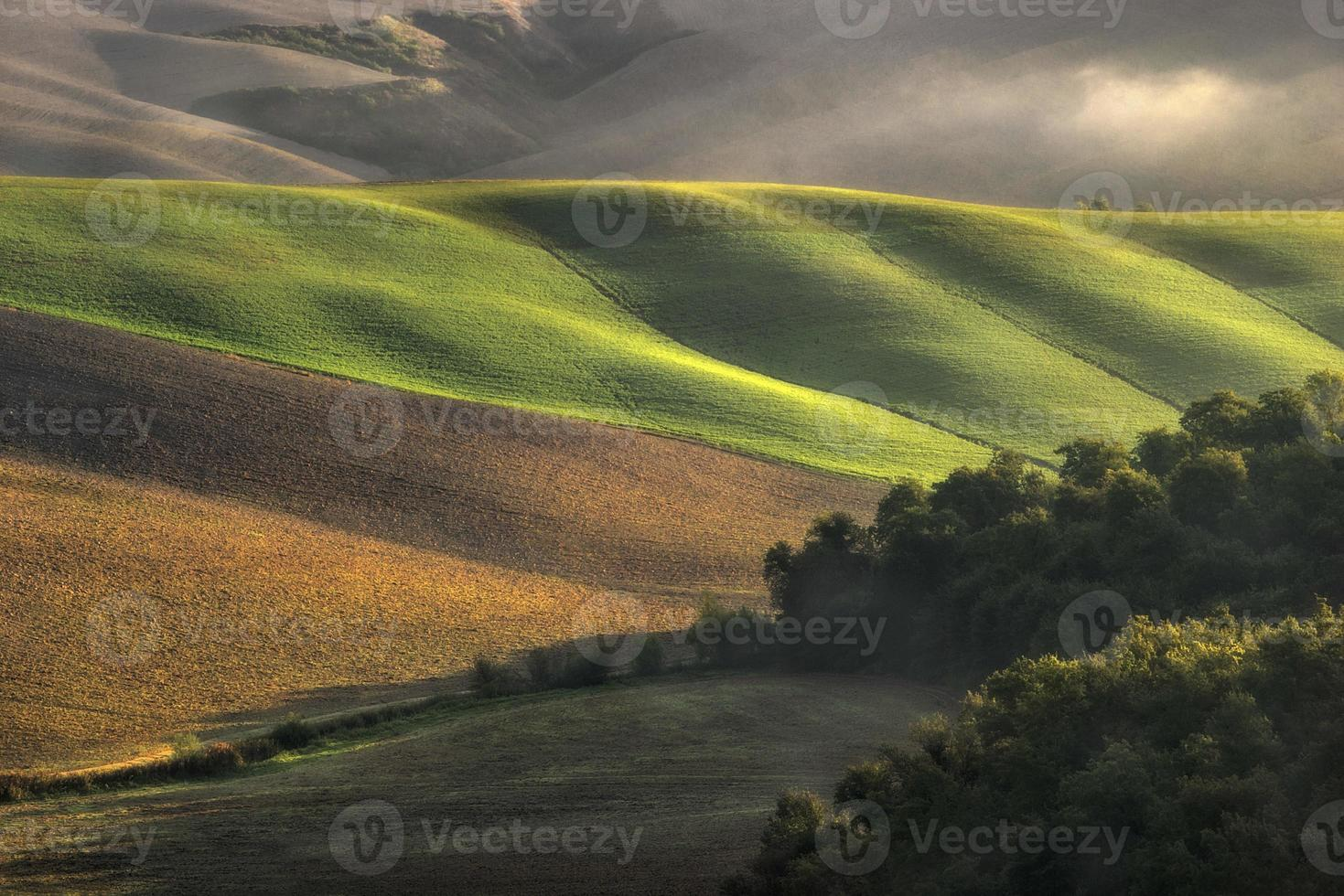 Toskana - Landschaftspanorama, Hügel und Wiese, Toskana - Italien foto
