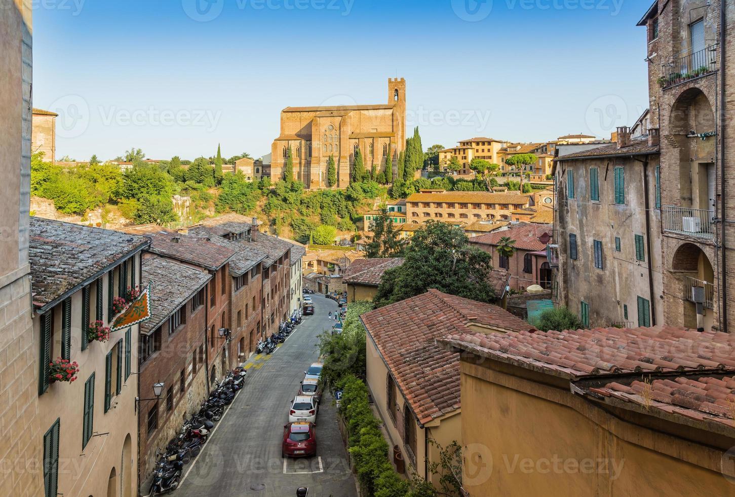 historische Altstadt von Siena, Italien foto