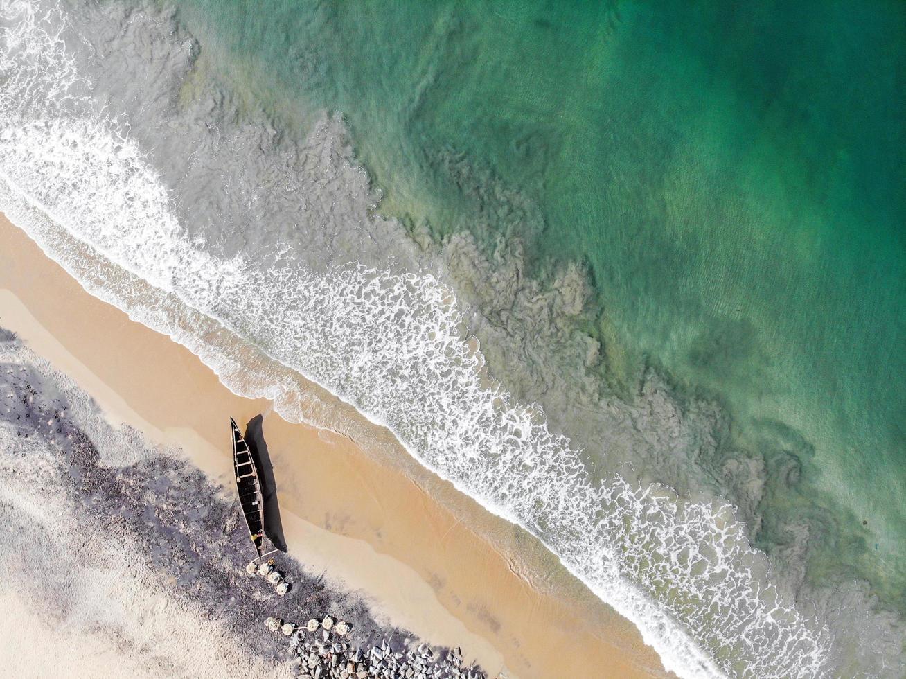 Boot am Strand foto