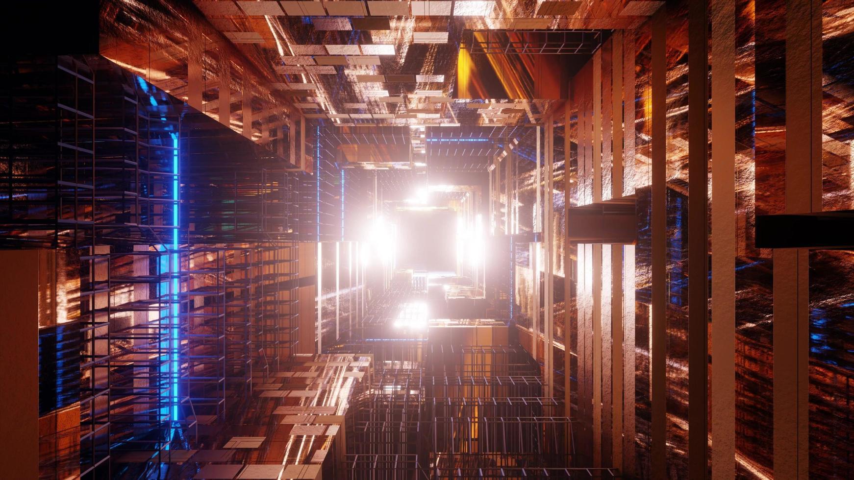 goldener futuristischer Science-Fiction-Hintergrund foto