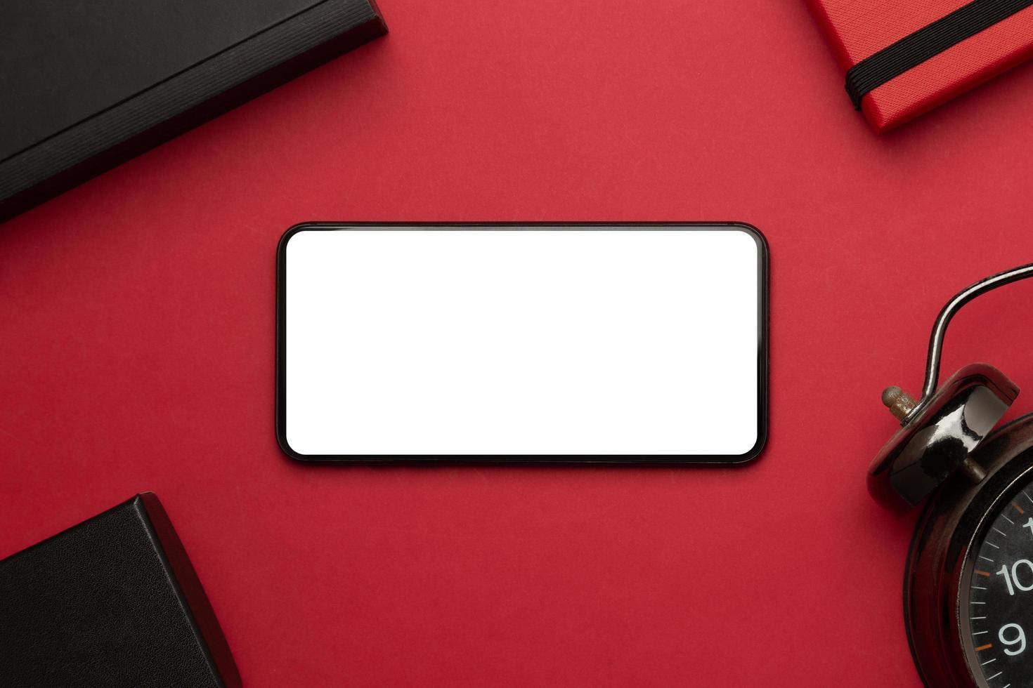 Smartphone Winterurlaub Modell foto