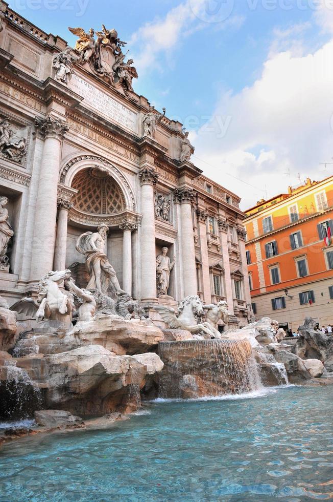 Trevi-Brunnen in Rom, Italien foto