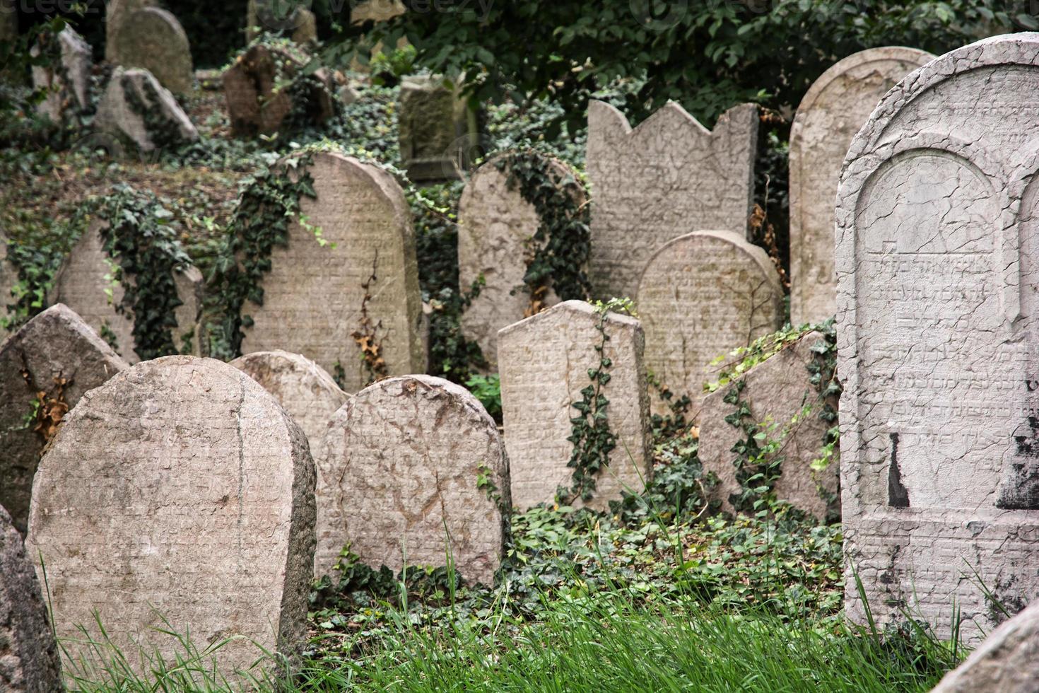 jüdischer Friedhof in Prag foto