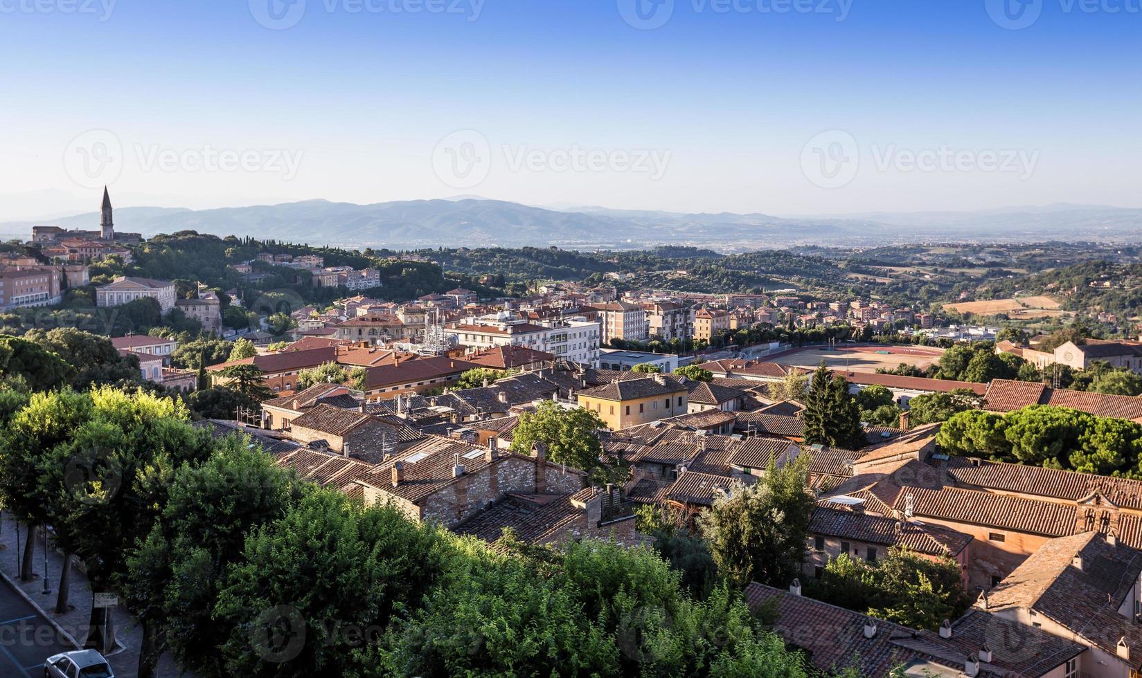 Altstadt von Perugia, Umbrien, Italien foto
