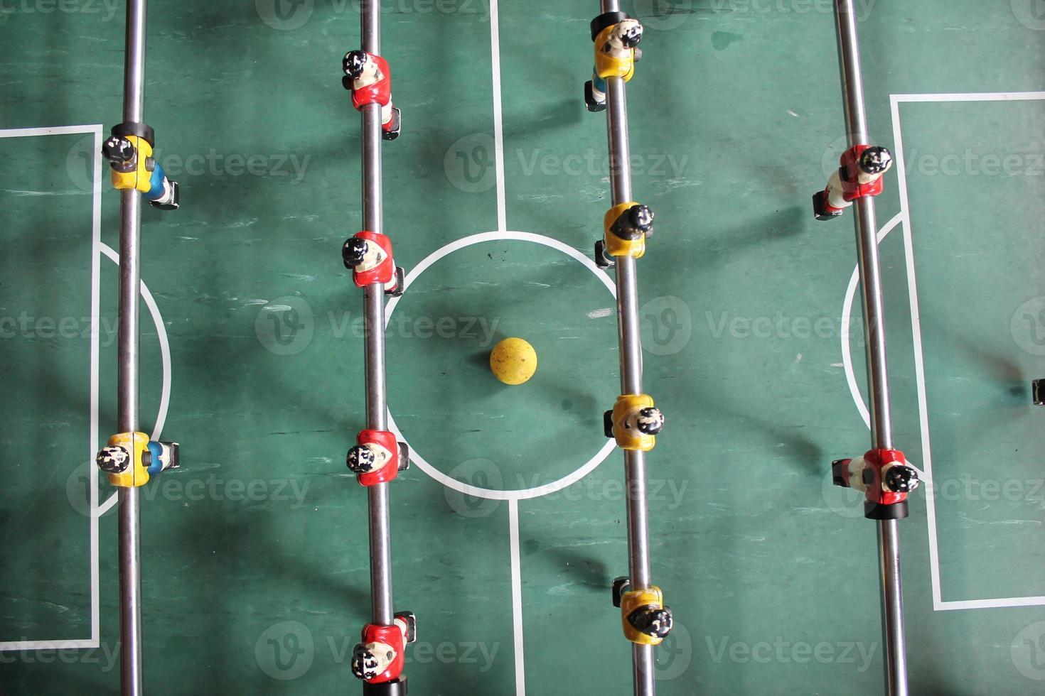 Fußball Brasilien Trikots Tischfußball Fußball in Mannschaftsfarben foto