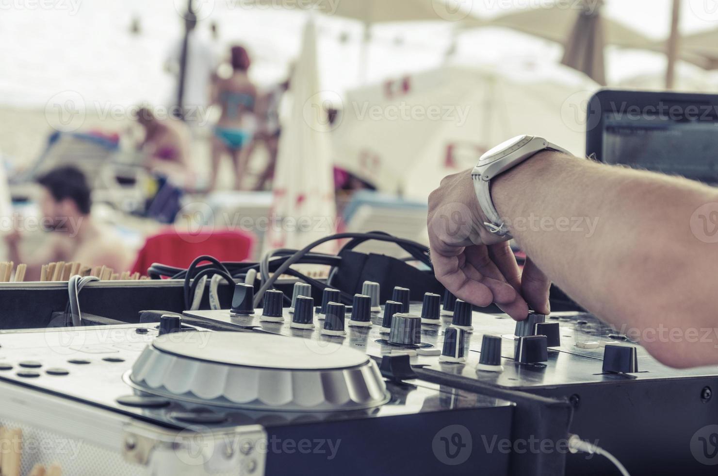 Strand DJ Nahaufnahme, Vintage foto