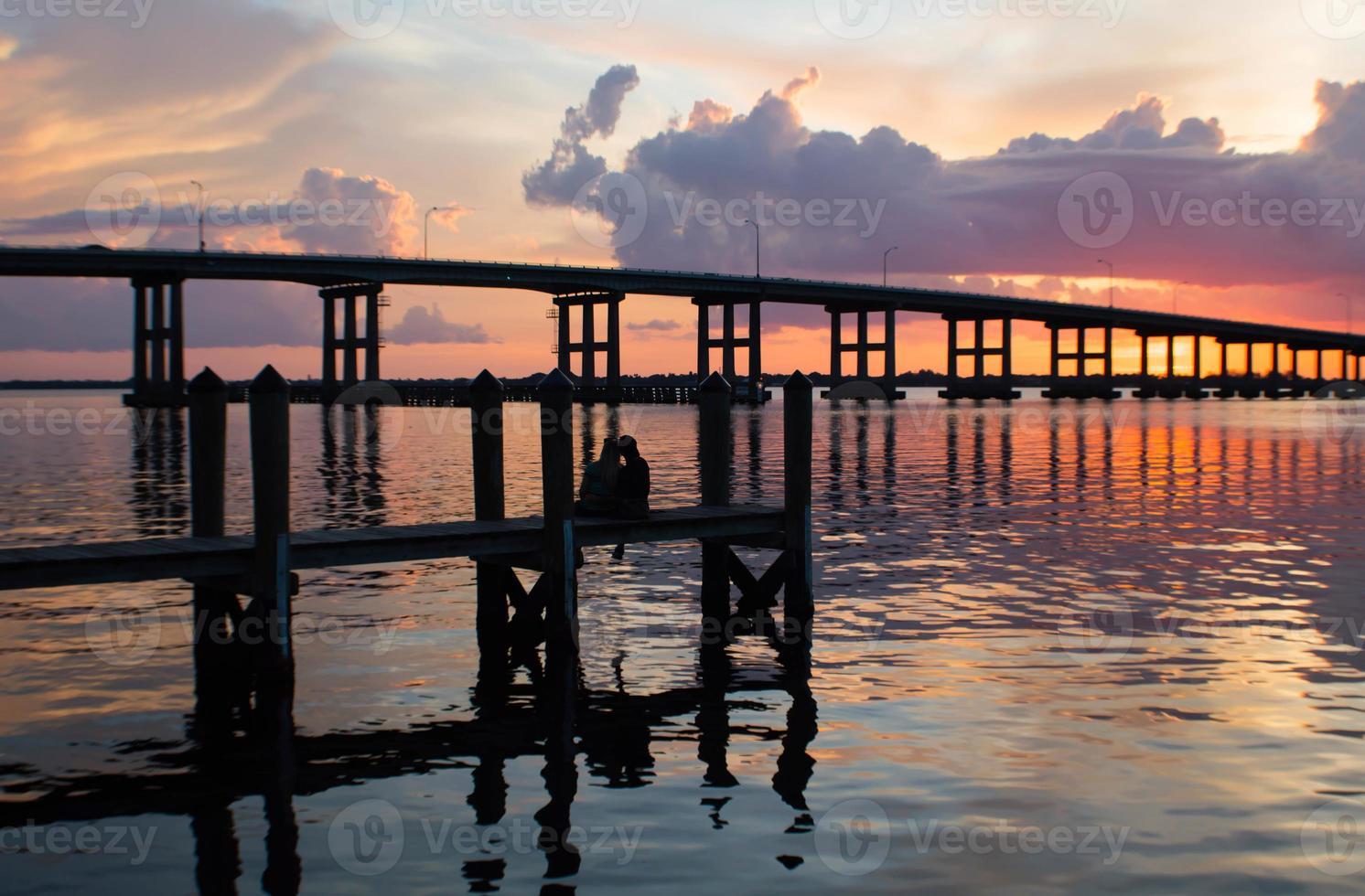 Sonnenuntergang im Cetennial Park Fort Myers River District Florida foto