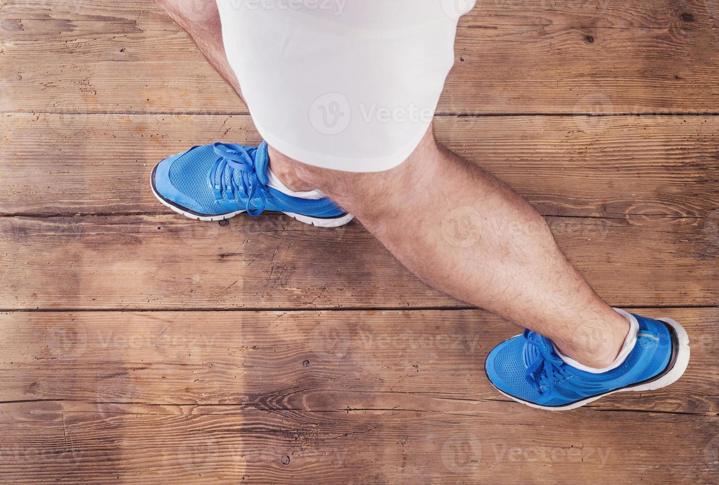 nicht erkennbarer Läufer foto
