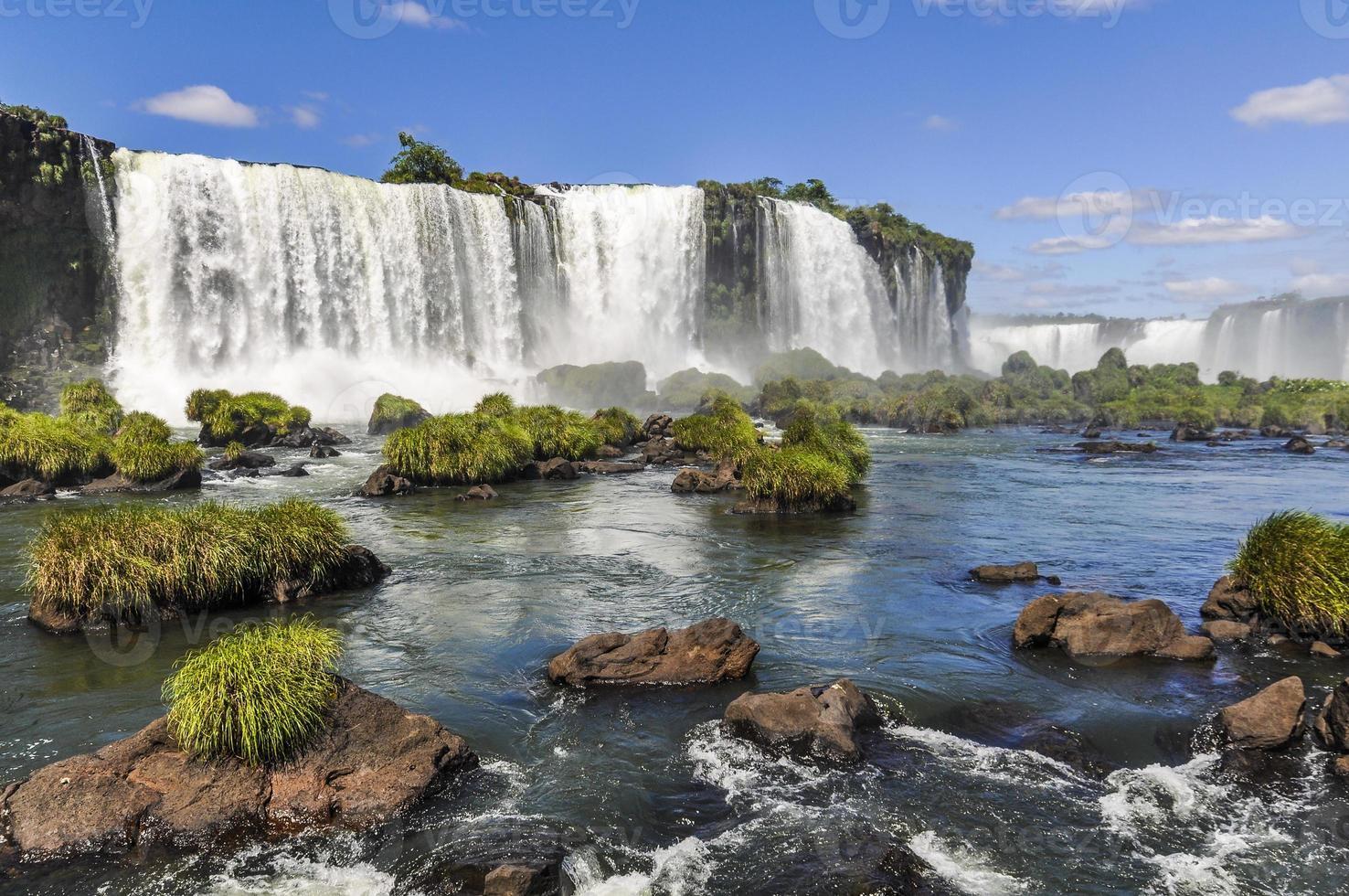 Seitenansicht bei Iguazu Falls, Brasilien foto