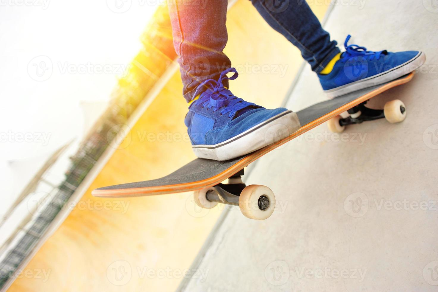 Skateboard Beine foto