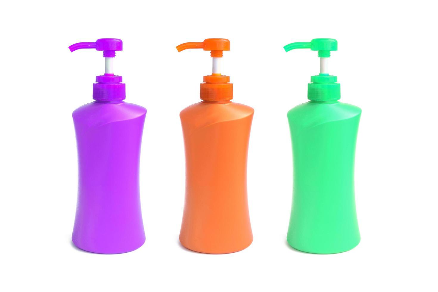 Plastikflasche für flüssige Produkte foto