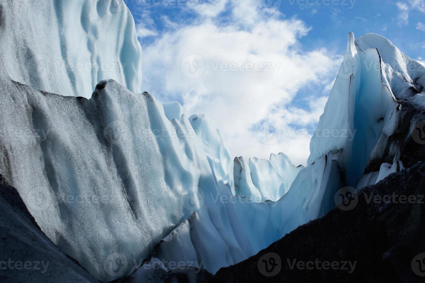 blaue Gletscherspitzen auf dem Matanuska-Gletscher, Alaska USA foto