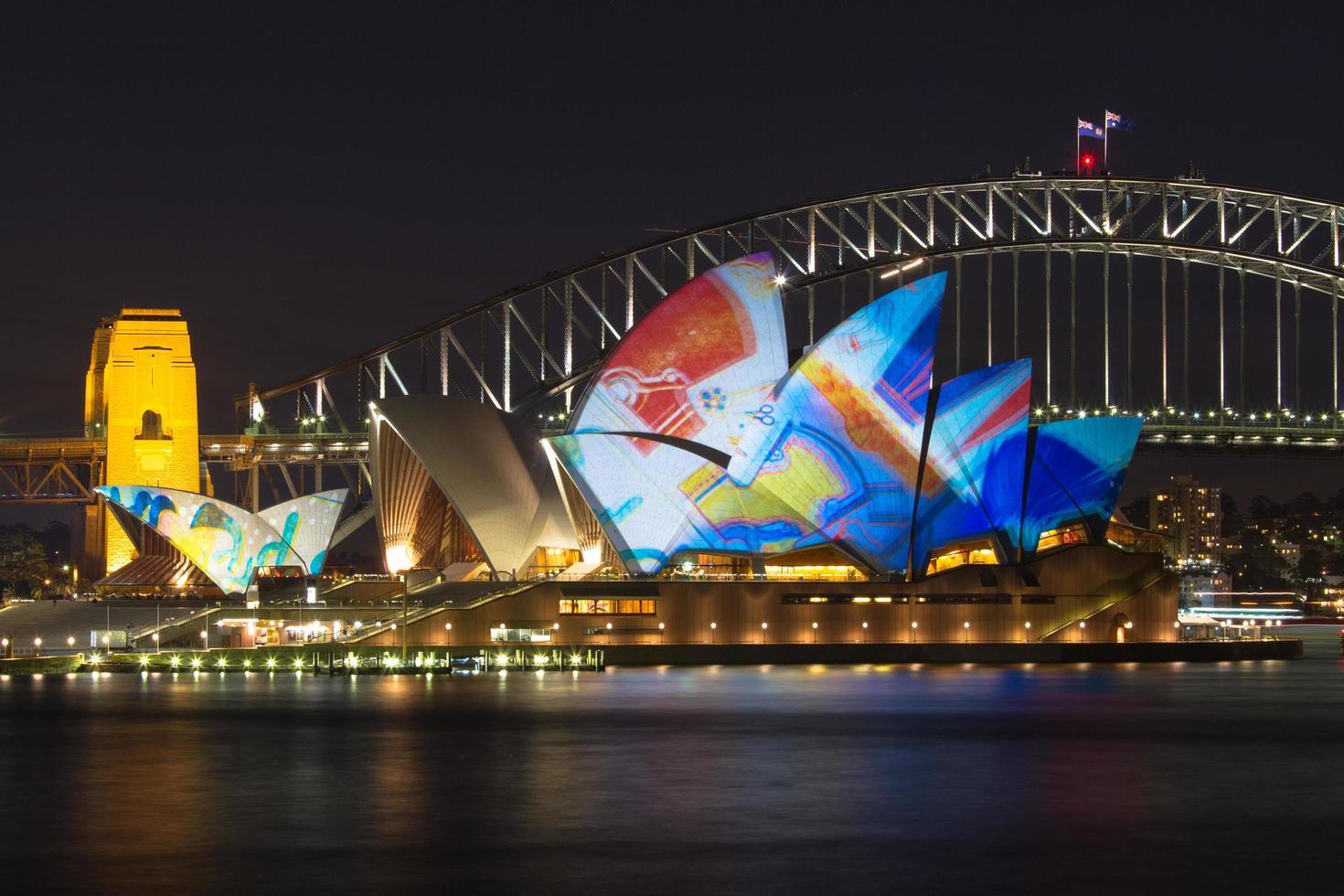 Sydney, Australien, 2020 - Sydney Opera House in der Nacht foto