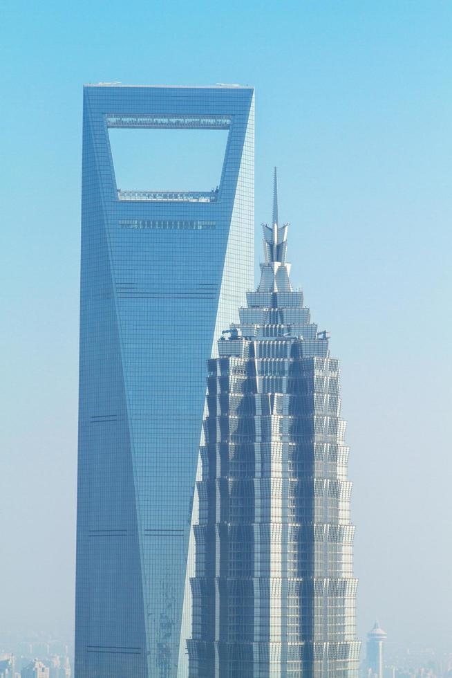 Shanghai, China, 2020 - Luftaufnahme von Gebäuden foto