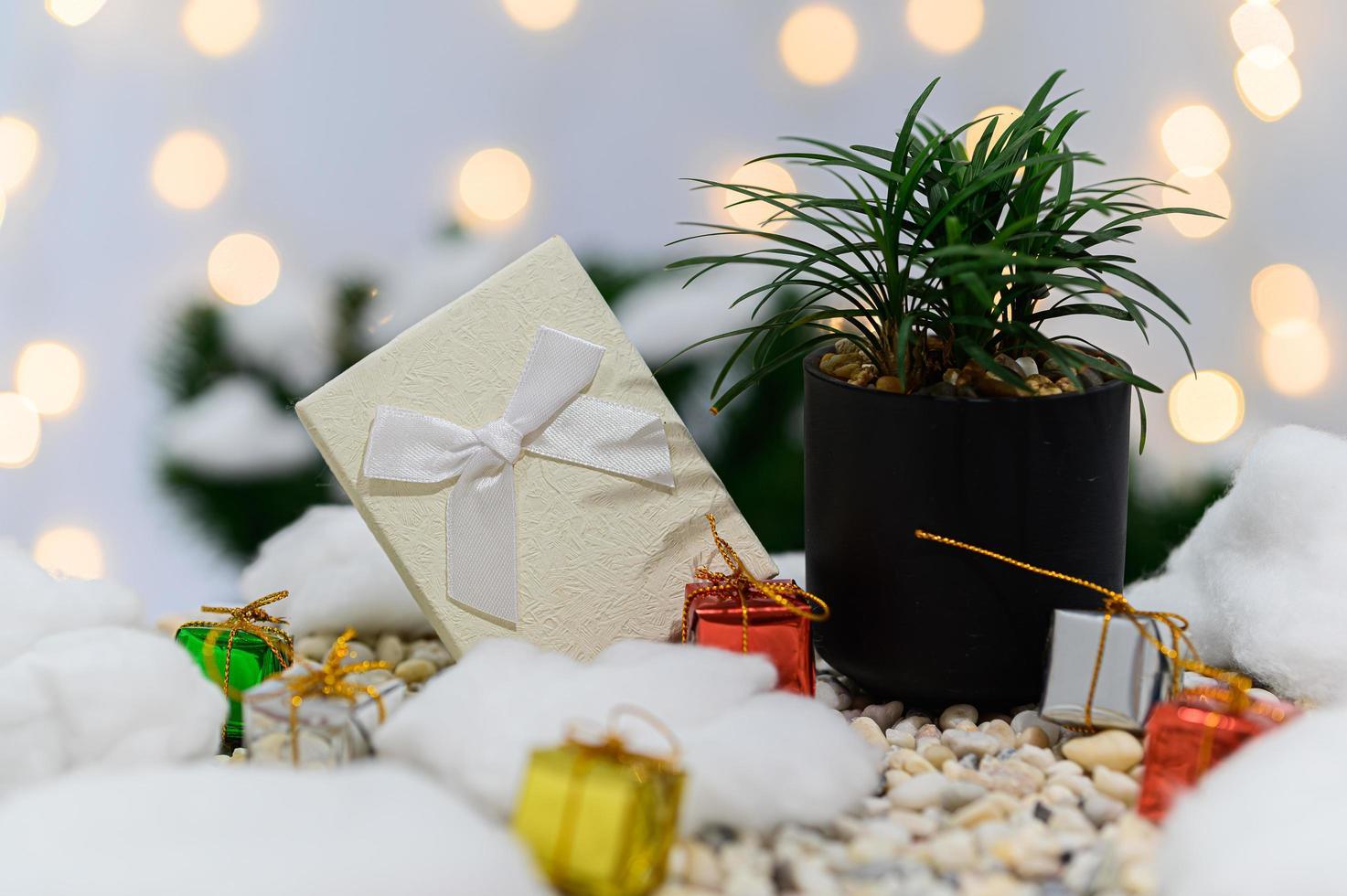 Weihnachtshintergrund für die Adventszeit foto