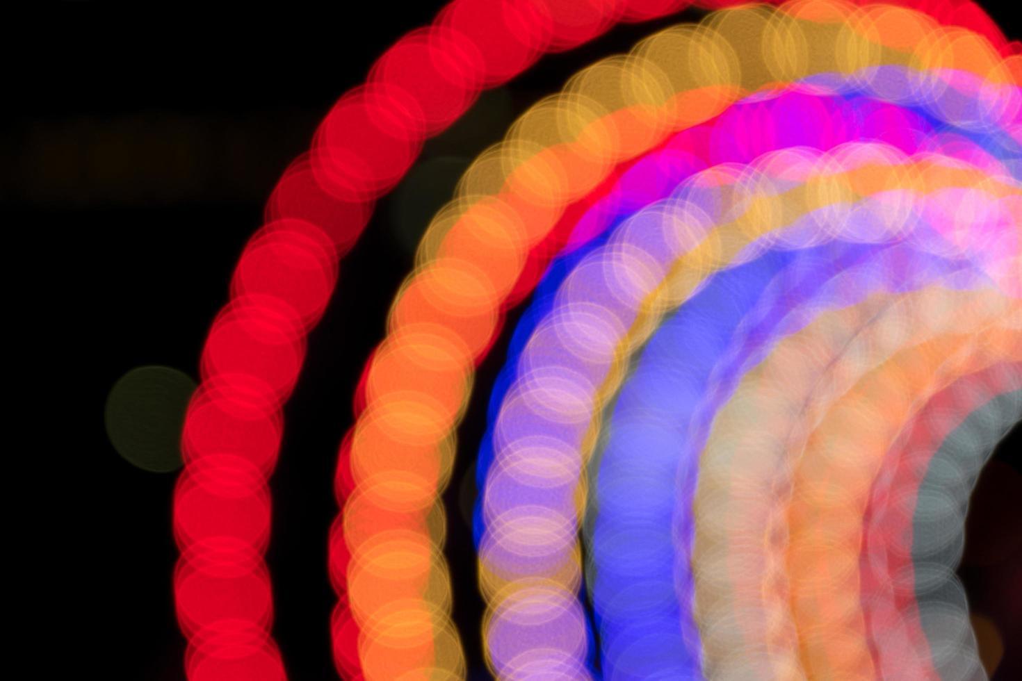 beleuchtete defokussierte Lichter foto