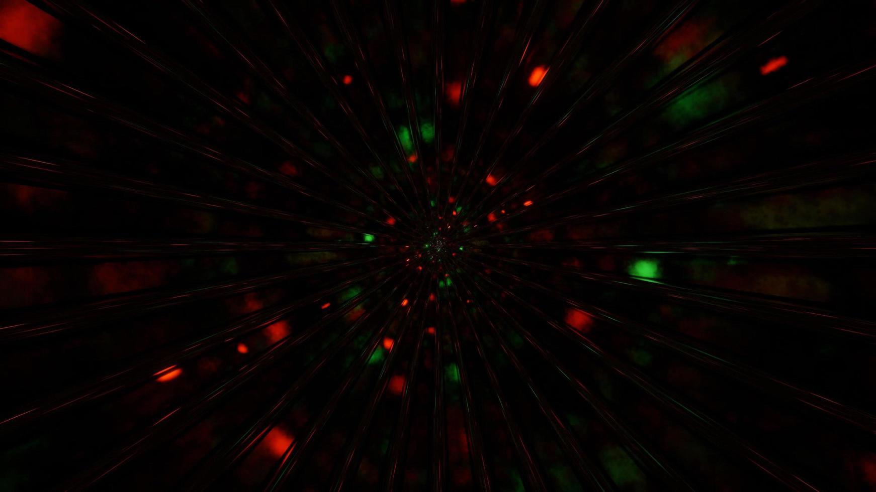schnelle Raumteilchen, die durch ein Hintergrundbild der 3D-Illustration fliegen foto