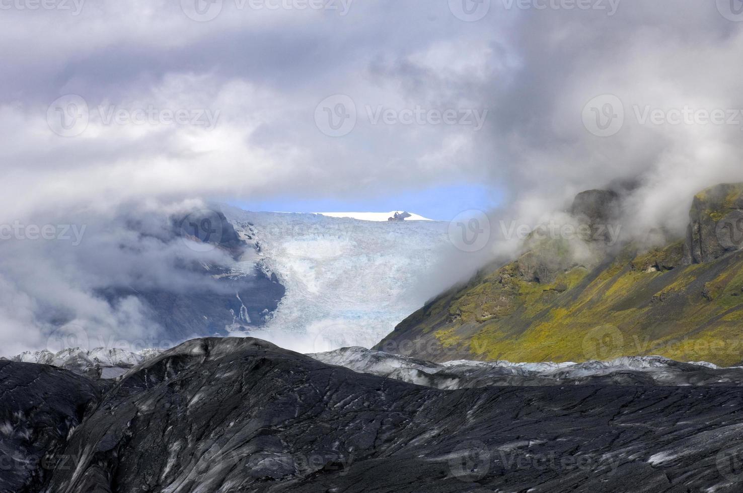 Blick auf den Gletscher foto