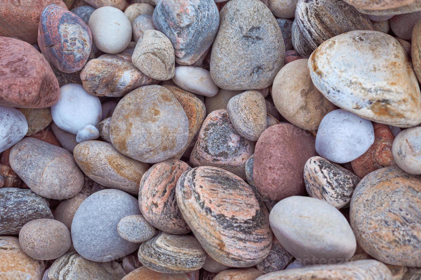 Strandsteine und Kieselsteine foto