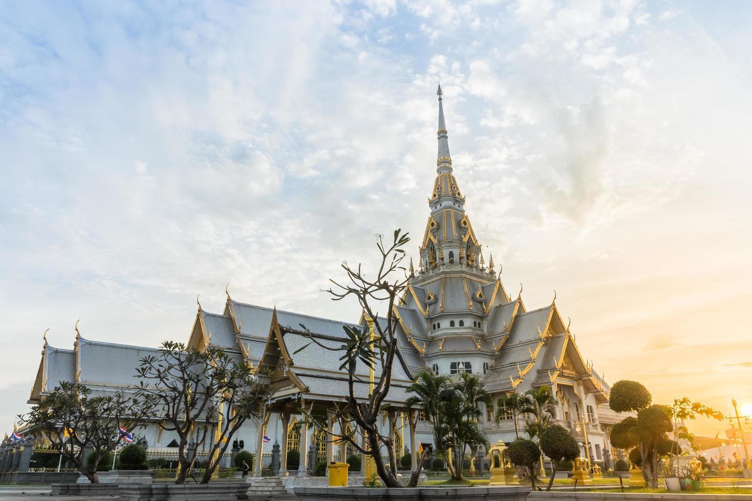 der wat sothon wararam worawihan tempel in thailand foto