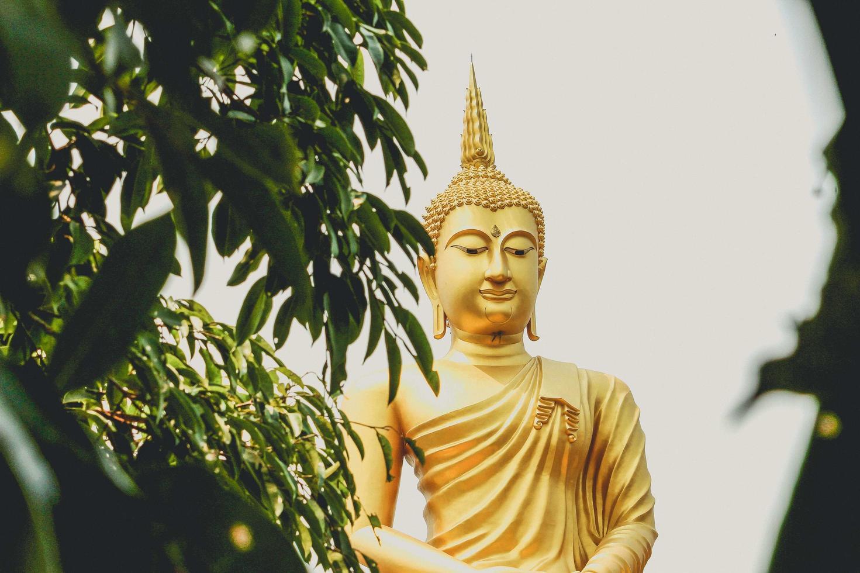 Buddha-Statue in Thailand foto