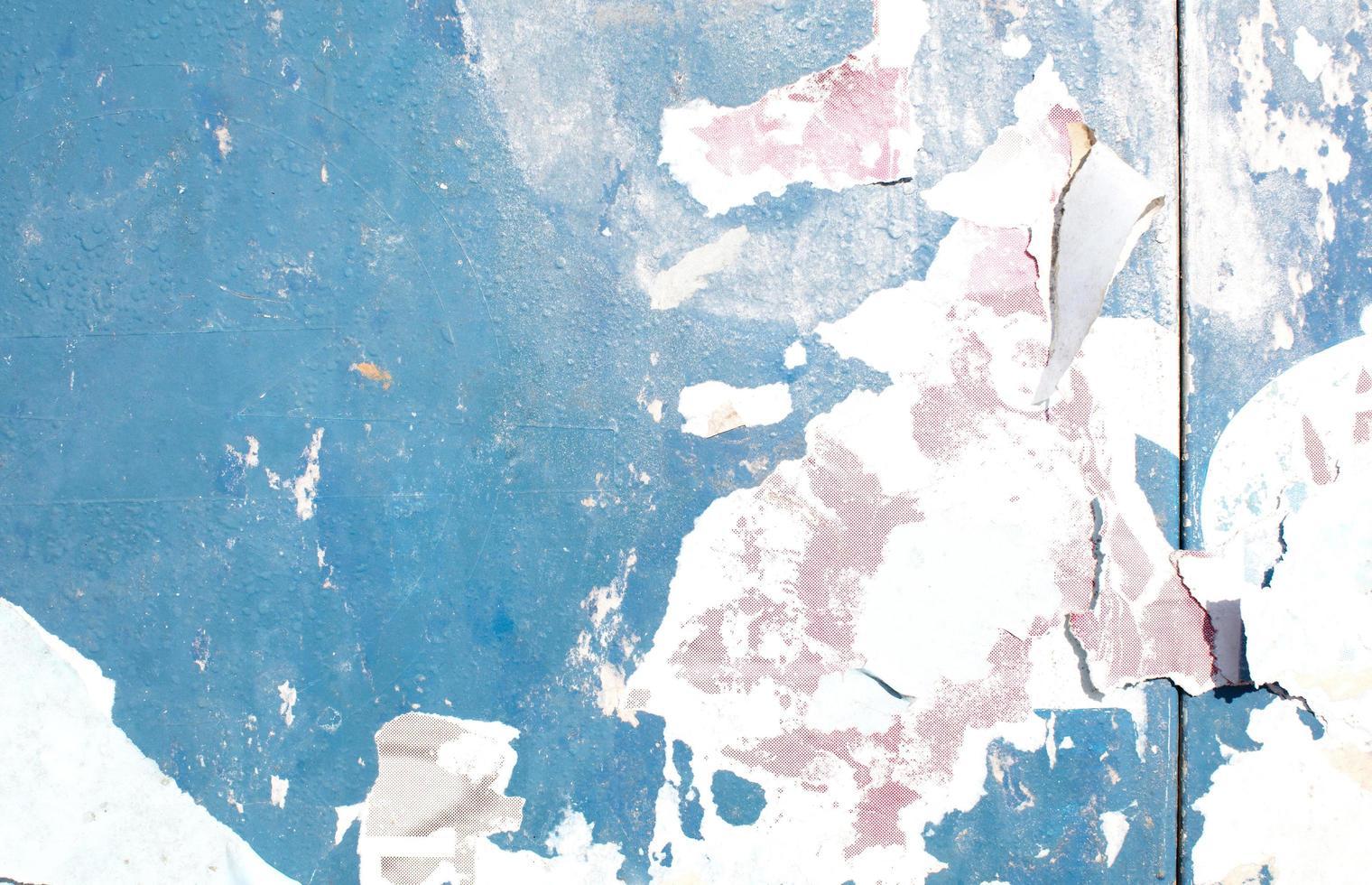 blaue Farbe abplatzen foto