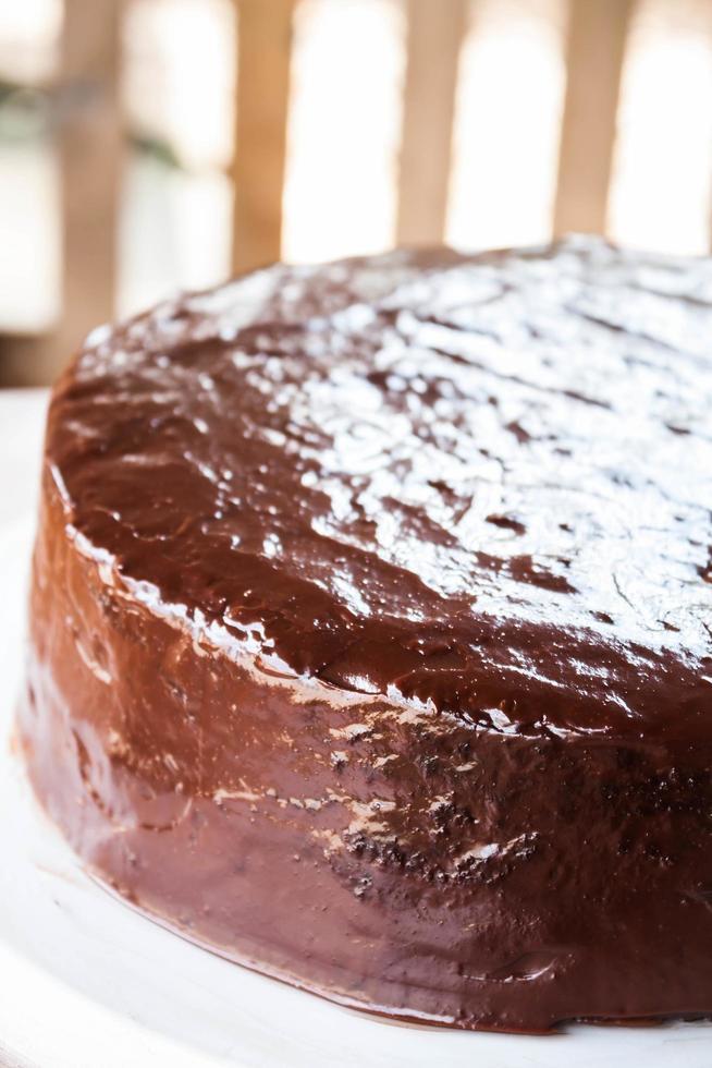 Schokoladen-Chiffon-Kuchen foto