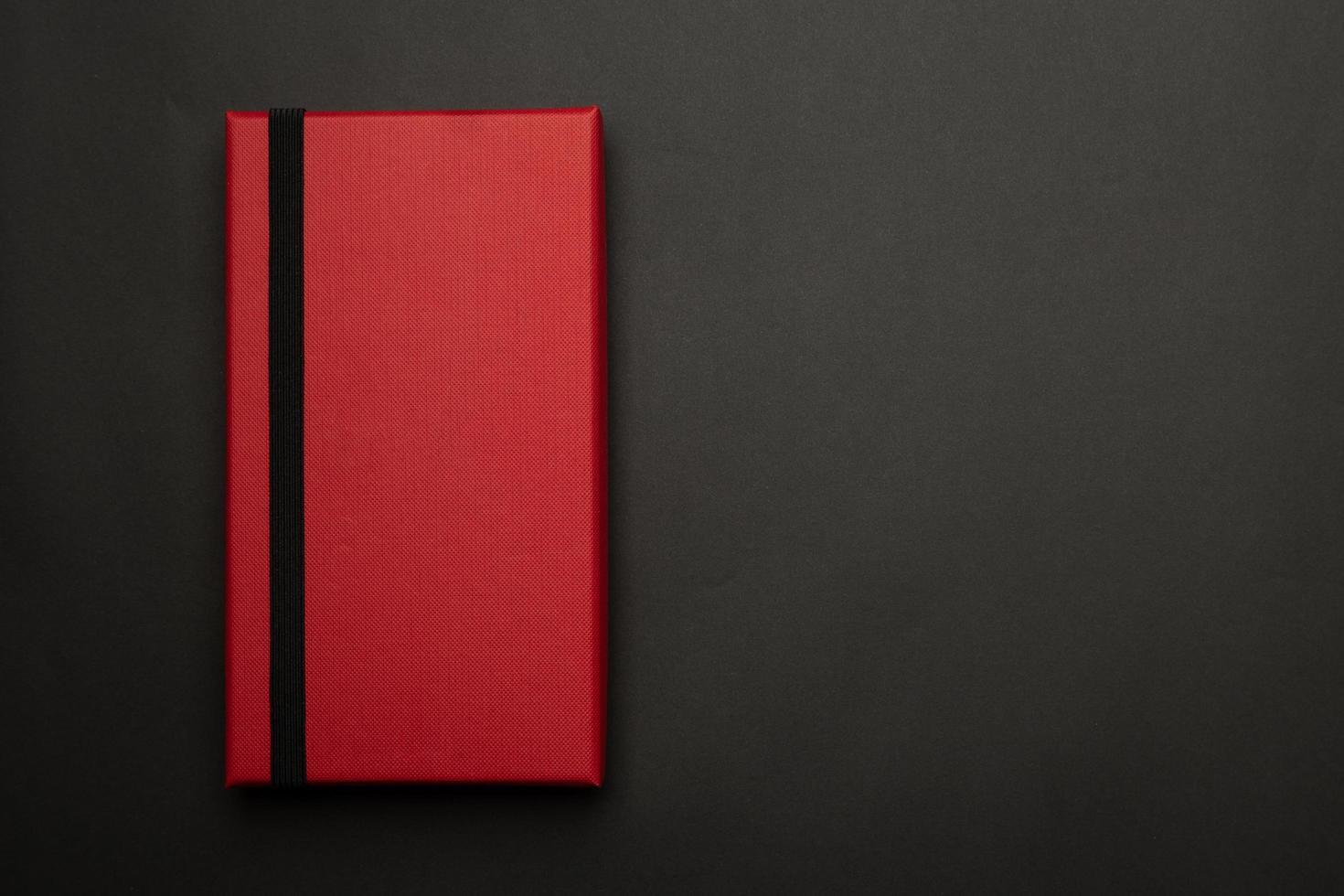 rote Geschenkbox Modellvorlage foto