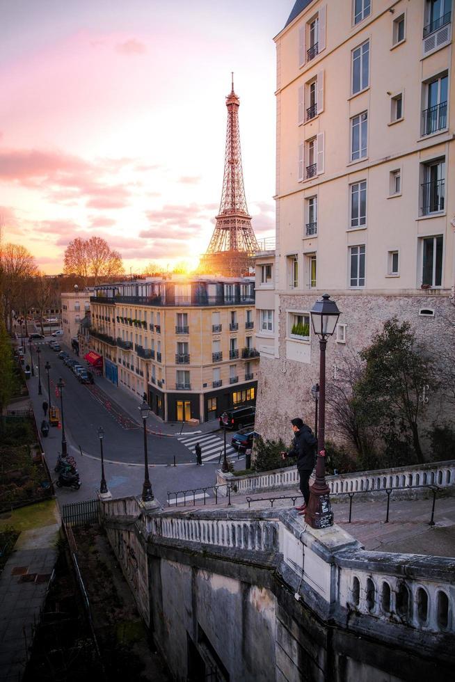 Sonnenaufgang in Paris foto