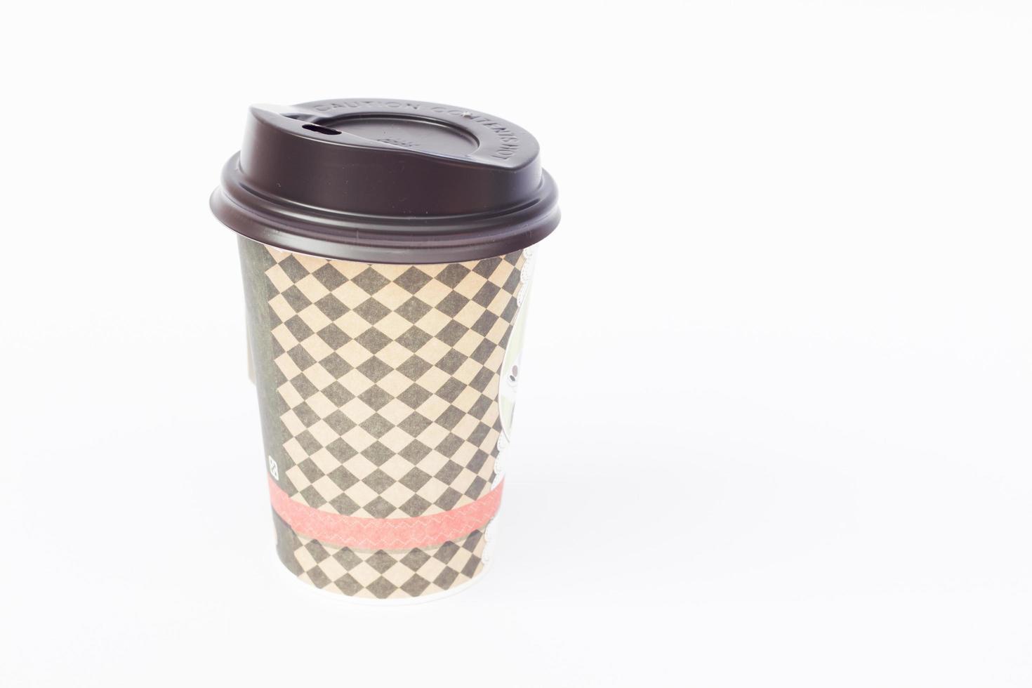 Kaffeetasse zum Mitnehmen foto