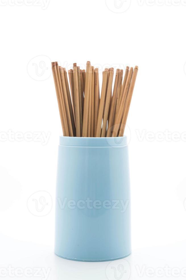Besteckhalter mit Stäbchen foto