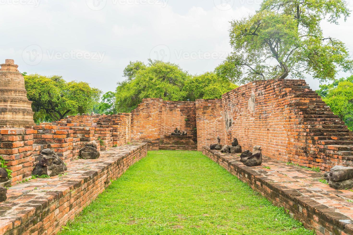 historisch von ayutthaya in thailand foto