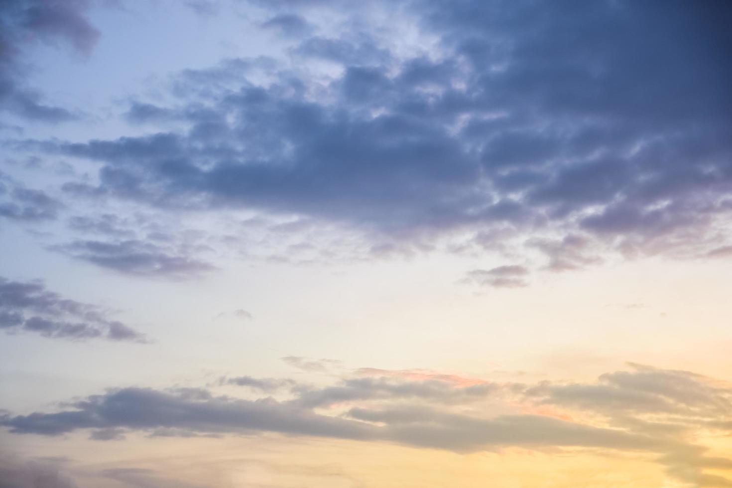Himmel bei Sonnenuntergang foto