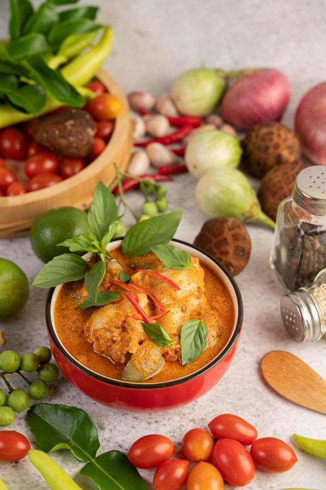 rotes Curry Huhn foto