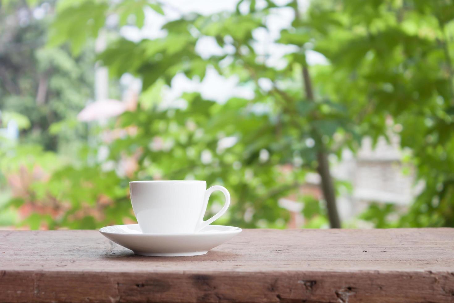 weiße Latte Tasse foto