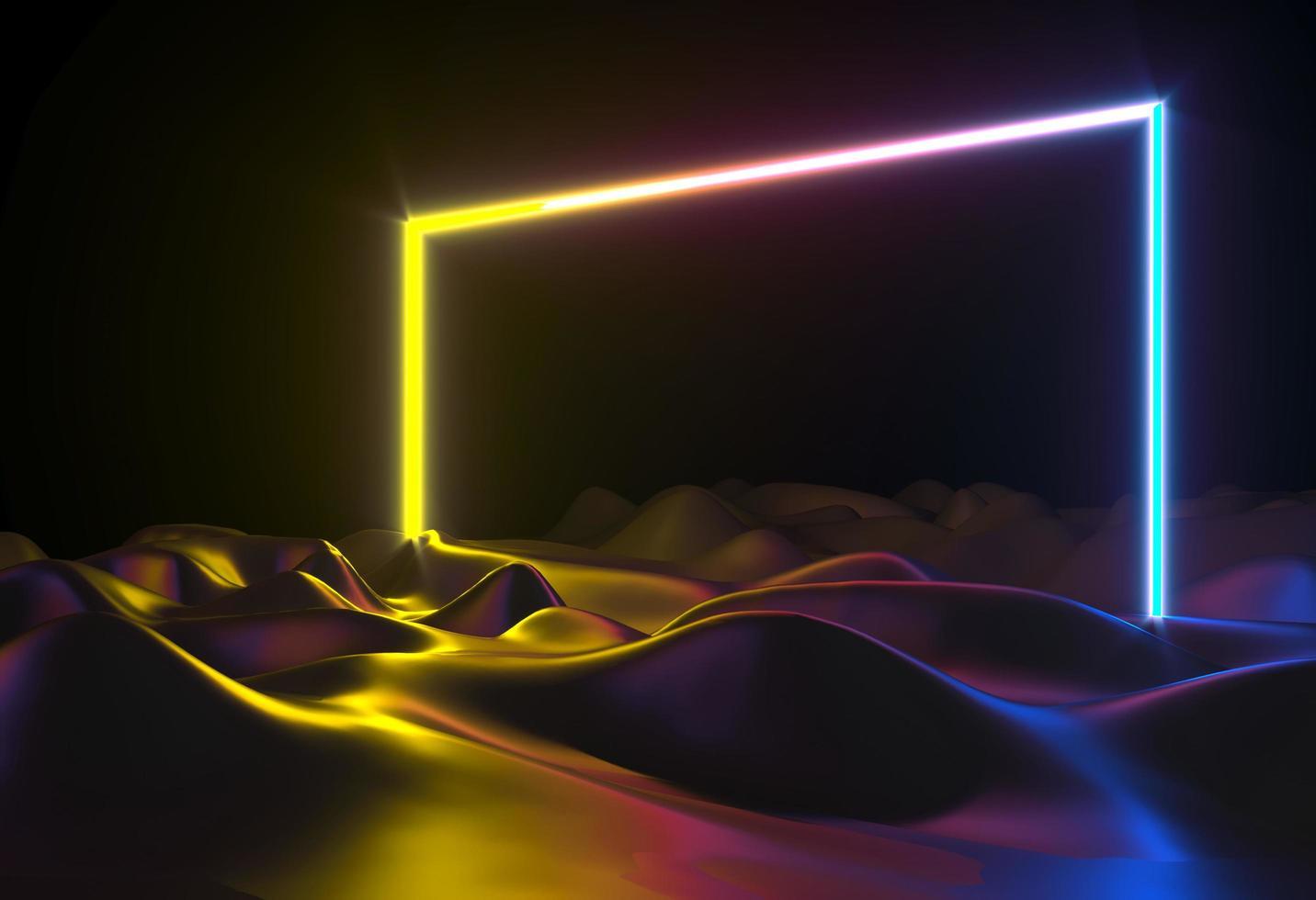 Abstrakte Neonformen der 3d Illustration foto