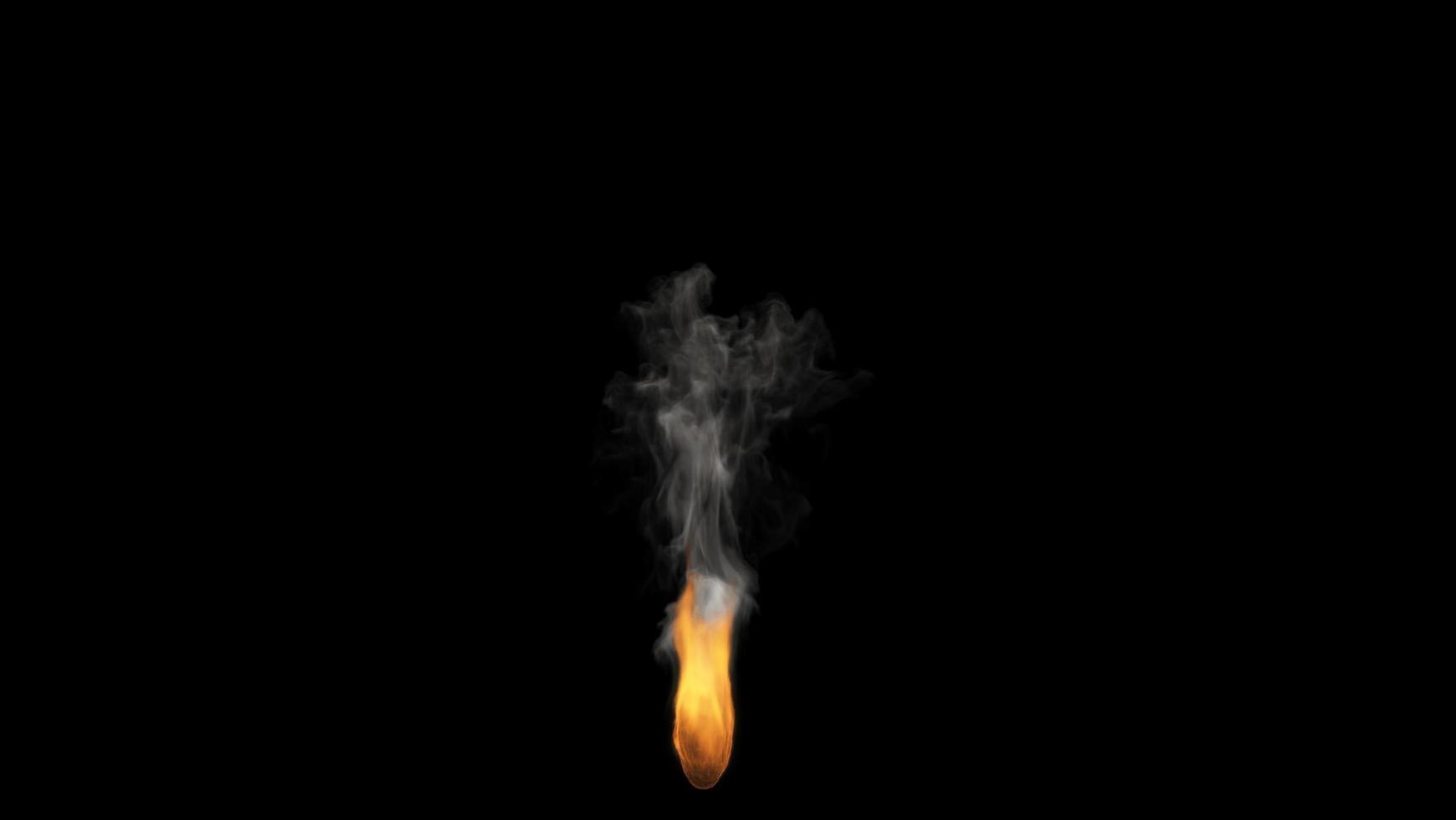 Feuer brennt auf schwarzem Hintergrund foto