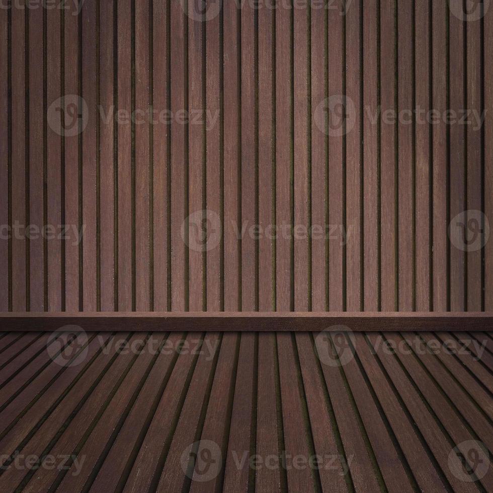 leerer Holzboden und Raum foto