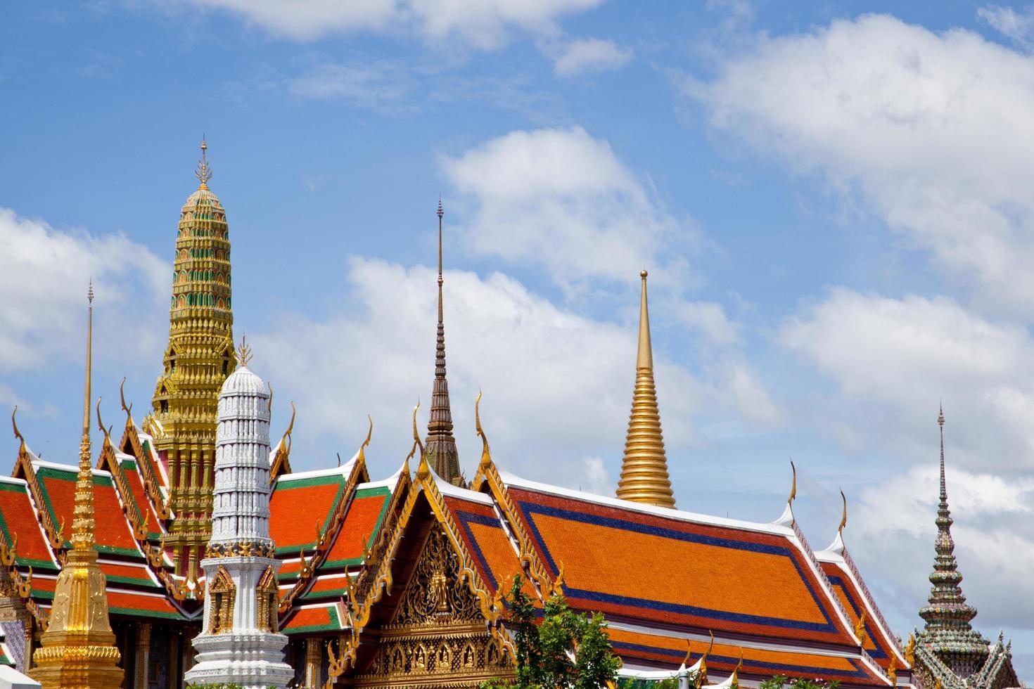 Wat Phra Kaew Tempel in Thailand foto