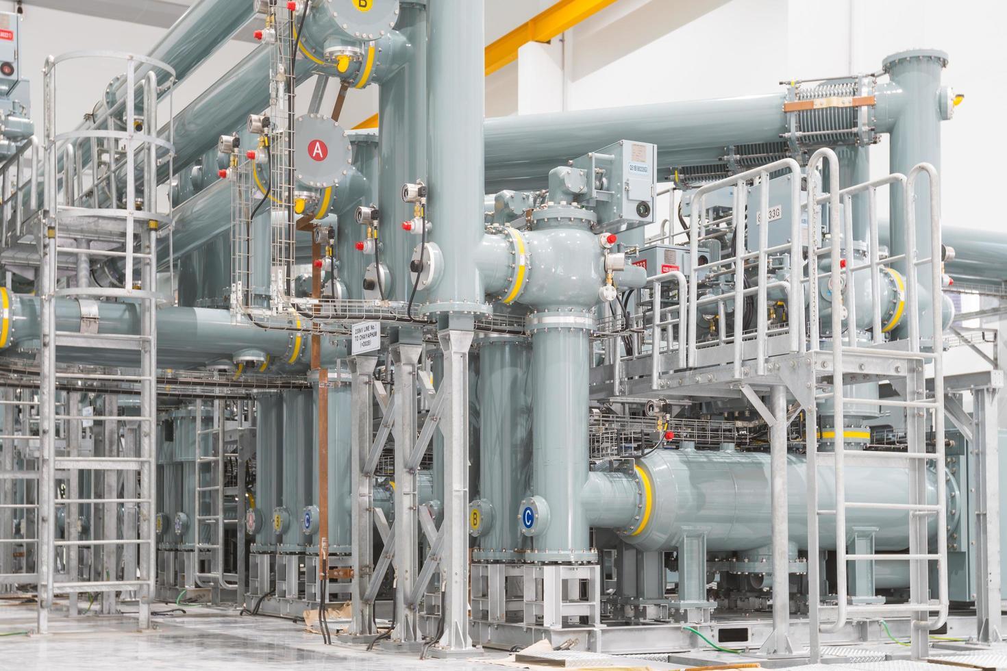 Gasleitung im Kraftwerk foto