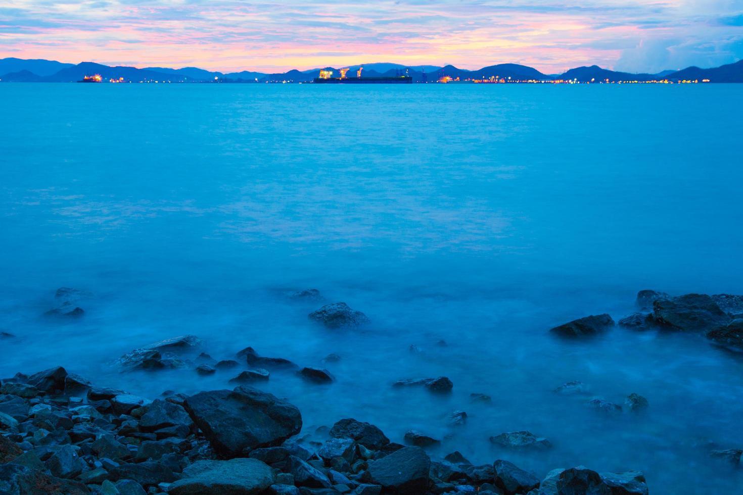 Strand am Morgen foto