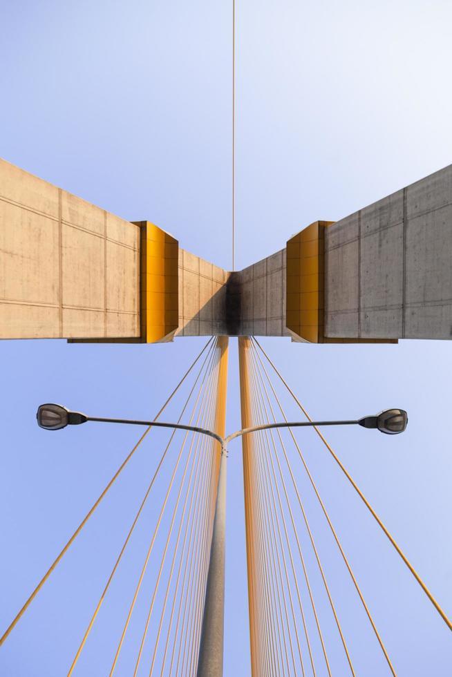 Rama VII Brücke in Bangkok, Thailand foto