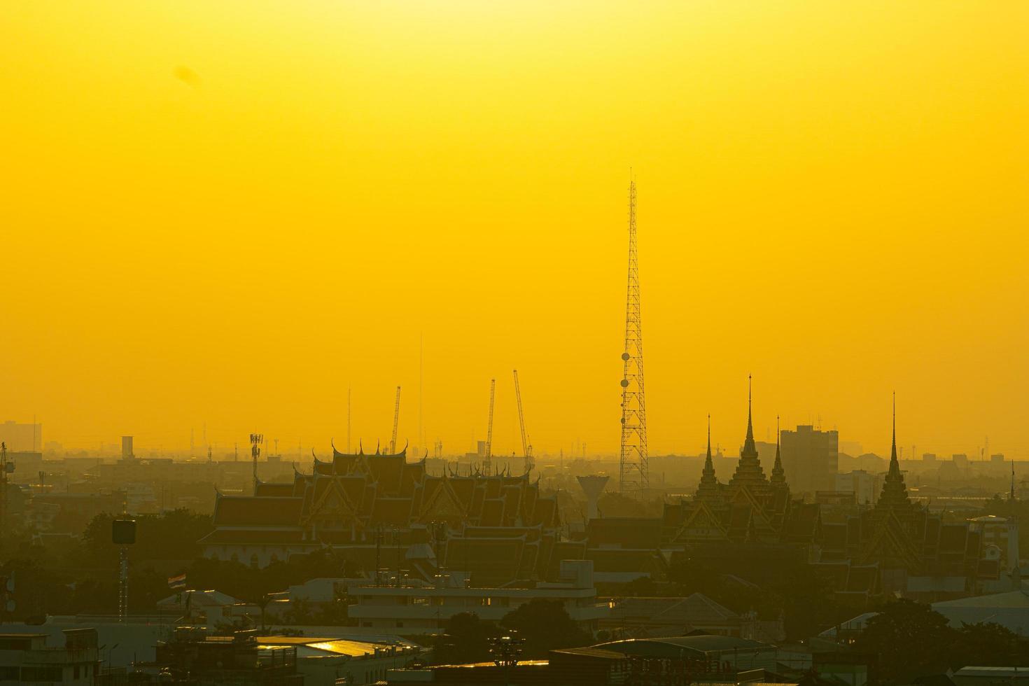 Bangkok Stadt bei Sonnenuntergang foto