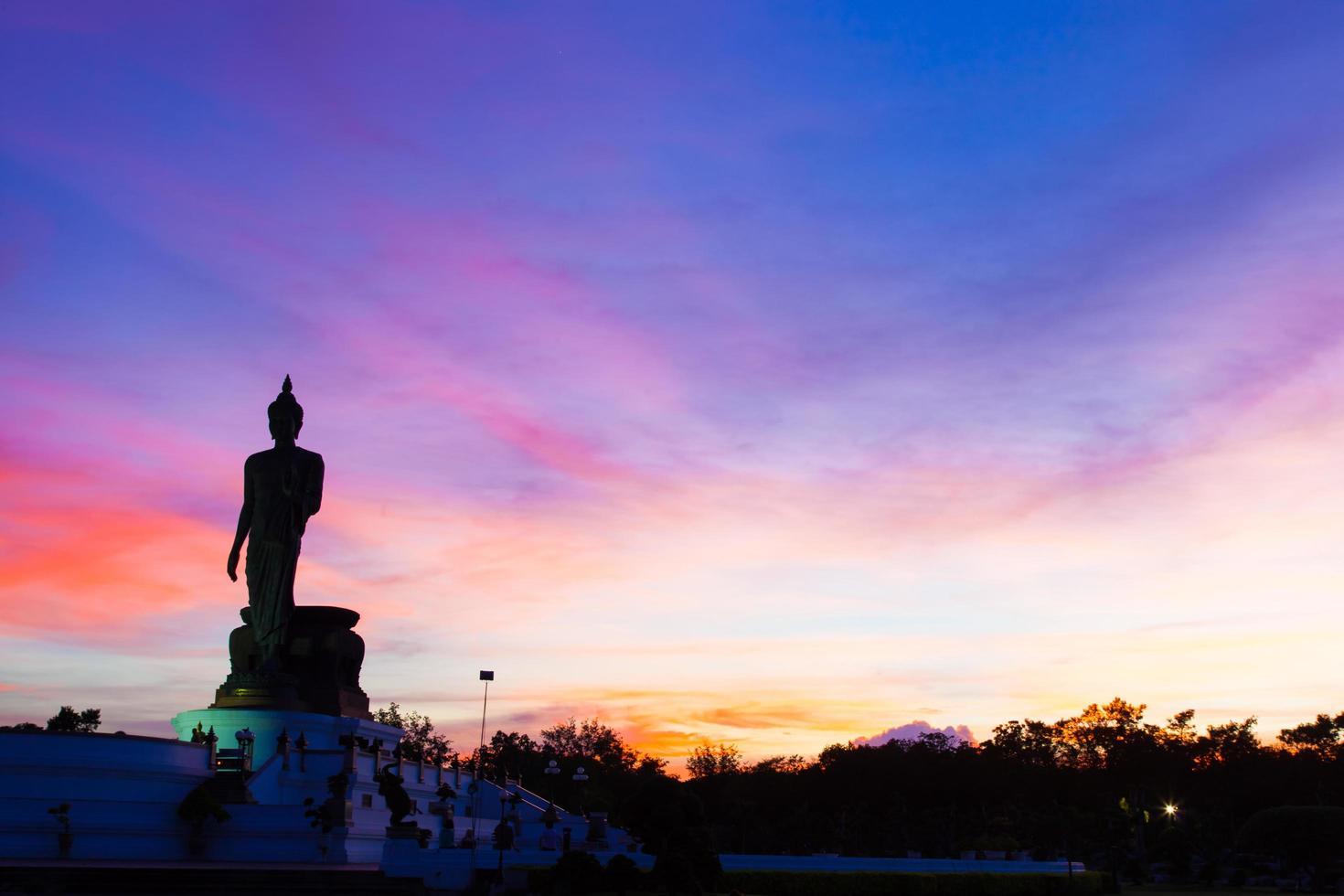 große Buddha-Statue in Thailand foto
