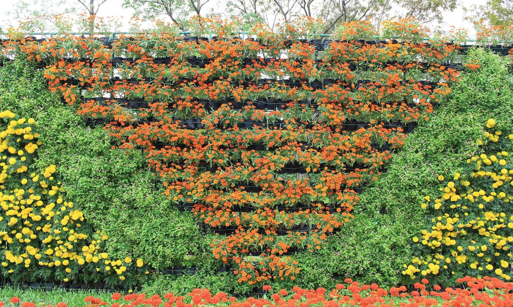 vertikale Blumen in einem Muster foto