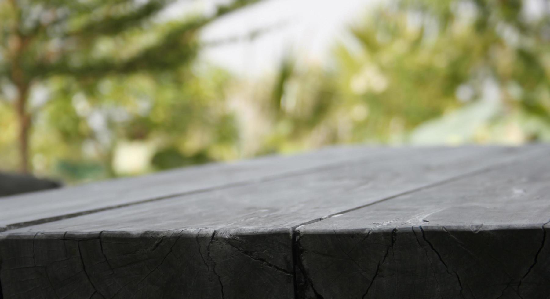 Nahaufnahme von Holz draußen foto