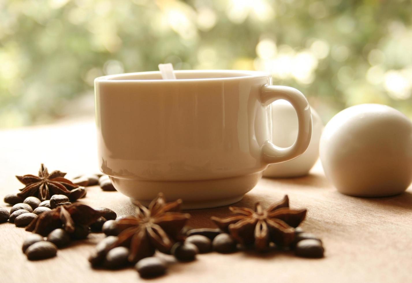 Kaffee mit Anis foto