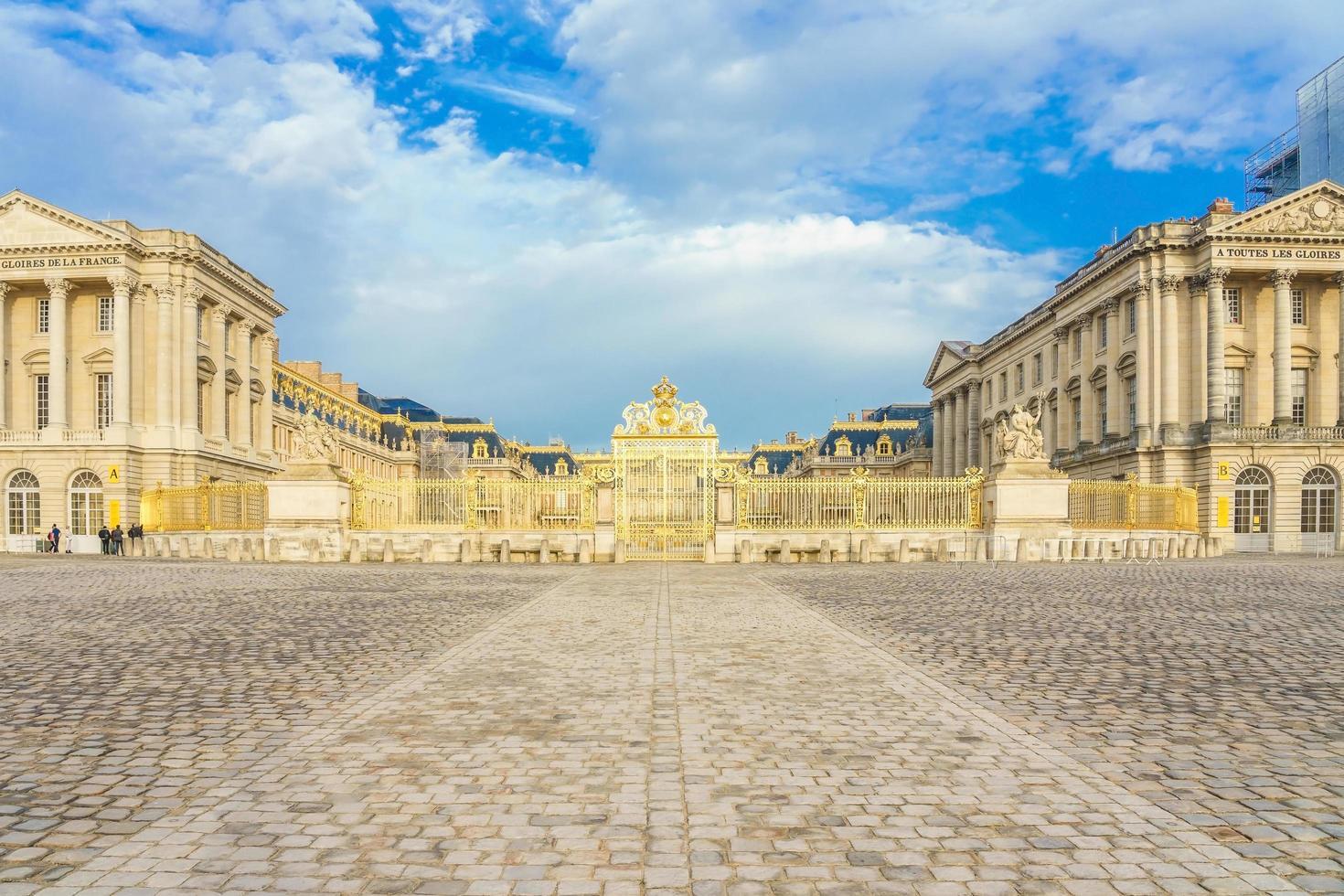 der Palast von Versailles in Frankreich foto