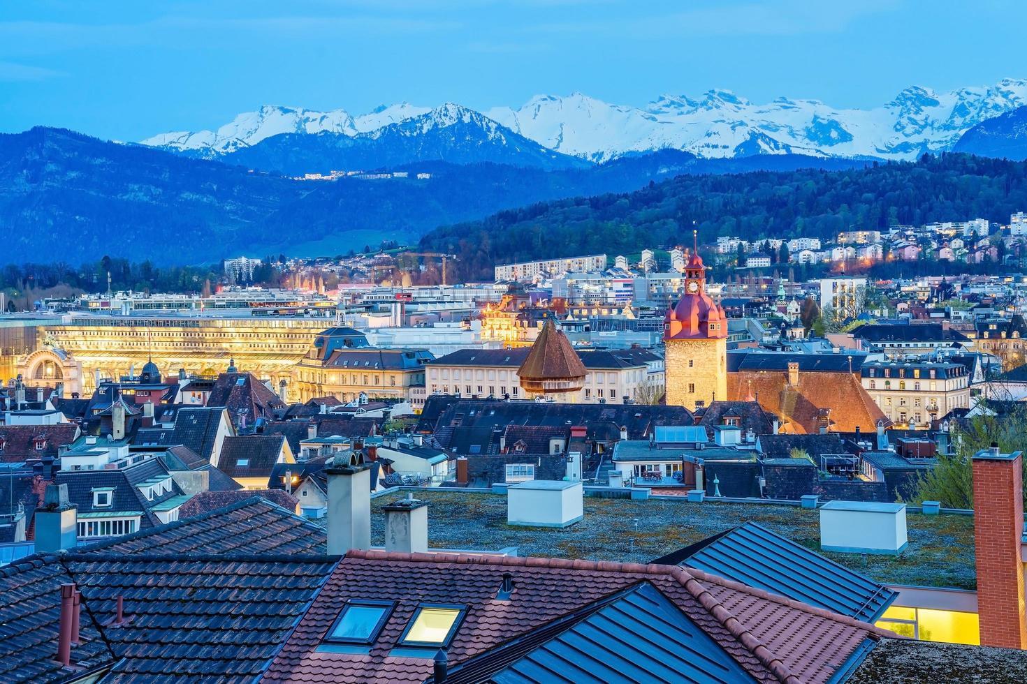 Blick auf Luzerner Stadt, Schweiz foto