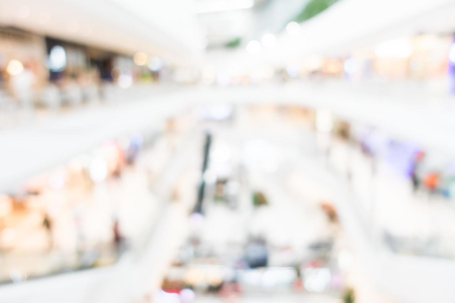 abstrakt verschwommenes Einkaufszentrum Interieur foto